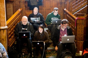 geeks on the stairs - martin cunningham