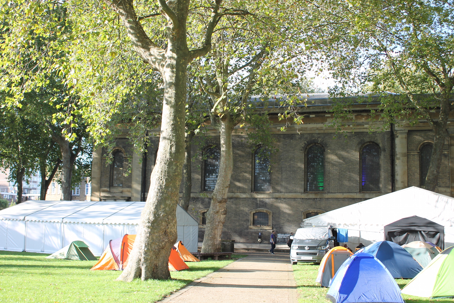 church & tents